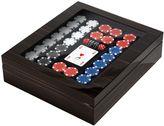 Agresti Polished Ebony Wood Poker Set