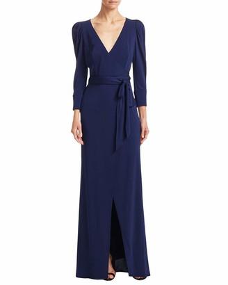 ABS by Allen Schwartz Women's Wrap Gown with Statement Sleeves