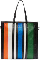 Balenciaga Multicolor Medium Striped Bazaar Shopper Tote