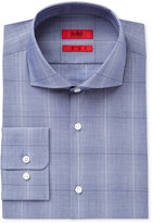 HUGO BOSS HUGO Men's Slim-Fit Light Blue Plaid Dress Shirt