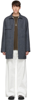 Jil Sander Grey Mid-Length Workwear Jacket