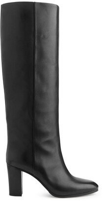 Arket Wide-Shaft Leather Boots