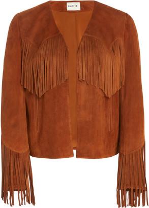 KHAITE Gracie Fringed Leather Jacket