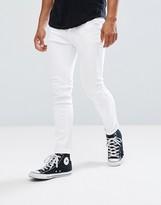 Pull&Bear Super Skinny Jeans In White