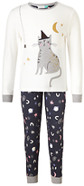 John Lewis Children's Scaredy Cat Pyjamas, Multi