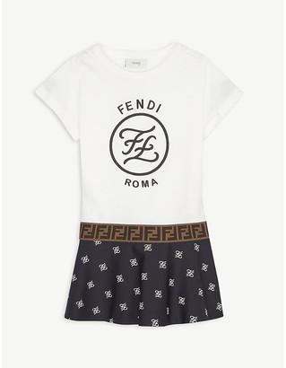 Fendi Karligraphy cotton dress 4-14 years