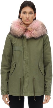 Mr & Mrs Italy Army Mini Parka W/ Fur Trim