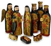 Novica 10 Piece Fair Trade Wood Nativity Set