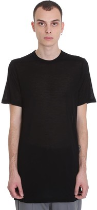 Rick Owens Level T T-shirt In Black Viscose