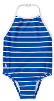 Ralph Lauren Girl Striped One-Piece Swimsuit