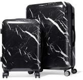CalPak Astyll Marbled Hardshell Suitcase Set - Black