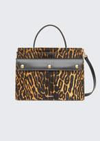 Burberry Small Pocket Leopard-Print Calf Hair Shoulder Bag