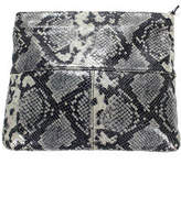 Club Monaco Gray Fauc Leather Snakeskin Print 2 Pocket Clutch Purse Handbag