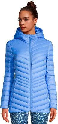 Lands' End Women's Hooded Ultralight Packable Down Coat