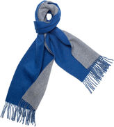 One Kings Lane Reversible Cashmere Scarf, Blue/Gray