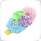 Smile 2015 New Fashion Baby Toddler Girls Kids Rose Sequins Bowknot Elasticity Head Band Accessories HB1174