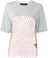 Filles a papa mesh panel T-shirt - women - Viscose/Polyester/Sheep Skin/Shearling - I