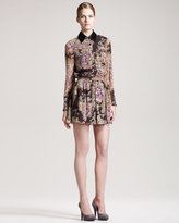 Gryphon New York Floral-Print Shirtdress