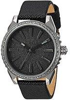 Diesel Ladies DZ5533 Nuki Gunmetal Black Leather Watch