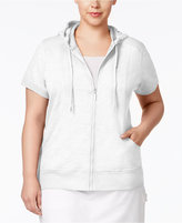 Style&Co. Style & Co. Plus Size Short-Sleeve Hoodie, Only at Macy's