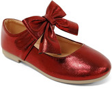 Jelly Beans Girls' Mary Janes BURGUNDY - Burgundy Bow-Accent Mary Jane - Girls