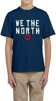 Hera-Boom Youth's Toronto Raptors Basketball WE THE NORTH Maple Leaf T-shirts