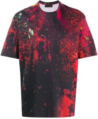 Diesel Black Gold brush stroke print crew neck T-shirt