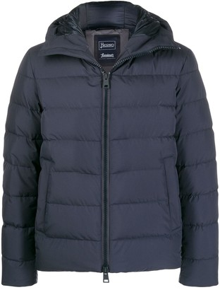 Herno short quilted zipped jacket