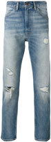 Levi's distressed cropped jeans