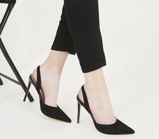 Office Hampton Sling Back Court Heels Black Mix