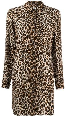 Equipment Leopard Print Silk Shirt Dress