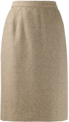 Valentino Pre-Owned 1980s woven pencil skirt