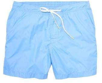 Hartford Kuta Solid Nylon Swim Trunks in Blue