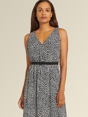 DKNY Donna Karan Women's Printed Maxi Dress - Abstract Dot - Size 0