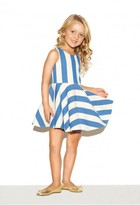 Milly Minis Striped Cotton Flounce Dress