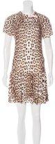 Roberto Cavalli Leopard Print Short Sleeve Dress