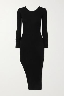 Alix Lester Cutout Ribbed Stretch-modal Jersey Midi Dress - Black