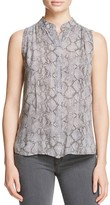 Bella Dahl Pleated Snake Print Blouse - 100% Exclusive
