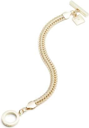 Anne Klein Gold Coloured Flat Chain Bracelet