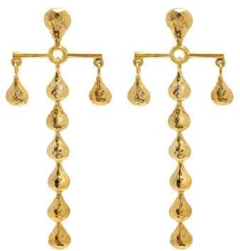 Sophia Kokosalaki Hammered Gold Plated Earrings - Womens - Gold
