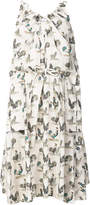 Carven rooster print shift dress