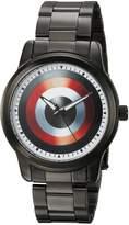 Marvel Men's 'Captain America' Quartz Metal and Alloy Casual Watch, Color: (Model: WMA000003)