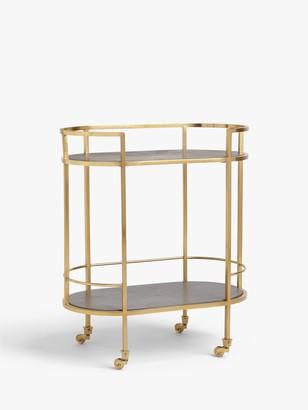 John Lewis & Partners + Swoon Lovelace Bar Cart, Gold