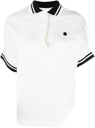 Sacai Contrasting-Trim Cotton Polo Shirt