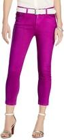 Lauren Ralph Lauren Cropped Skinny Jeans in Bright Magenta