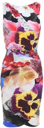 Roberto Cavalli Floral-printed stretch wrap dress