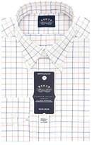 Eagle Men's Non Iron Stretch Collar Regular Fit Large Tattersall Buttondown Collar Dress Shirt