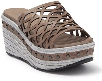 Antelope Lasercut Platform Espadrille Sandal
