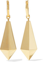 Noir Macbeth gold-tone earrings