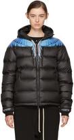 Marcelo Burlon County of Milan Black Down Patak Jacket